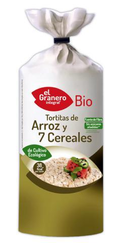 Tortitas de arroz con 7 cereales El Granero Integral