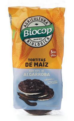 Tortitas de maíz y algarroba Biocop 100g.