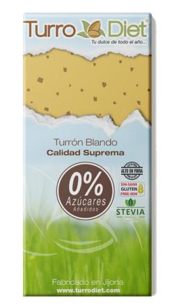 Turrón blando Jijona sin azúcar con stevia TurroDiet
