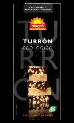 Turrón chocolate y almendras Biográ 200g.