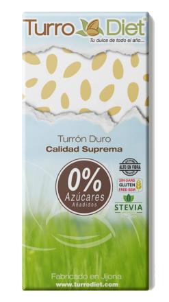 Turrón duro Alicante sin azúcar con stevia TurroDiet