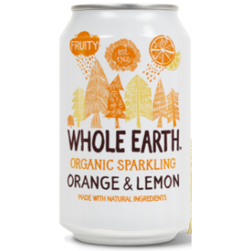 Refresco de naranja-limón bio Whole Earth 330ml.