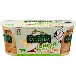 Yogur manzana y platano junior Xanceda 2x125g.