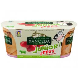 Yogur fresas junior 2x125g.