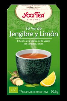 Té verde jengibre y limón Yogi Tea