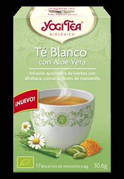 Yogi Tea té blanco con aloe vera