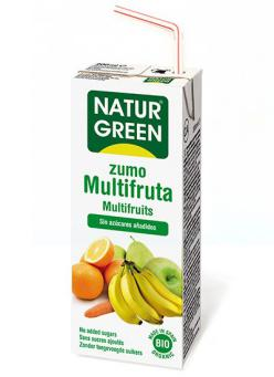 Zumo multifrutas mini Naturgreen 3x200ml.