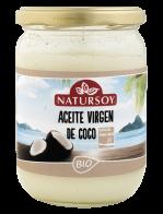 Aceite de coco desodorizado Natursoy 400g.