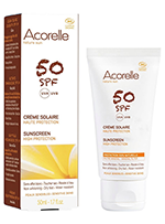 Crema solar facial SPF50 Acorelle 50ml.