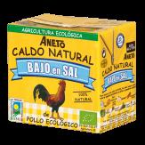 Caldo de pollo ecológico bajo en sal 500ml.
