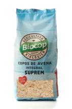 Copos avena integral suprem Biocop 500g.