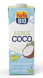 Bebida de arroz coco Isola Bio 1l.