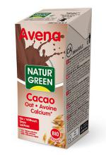 Bebida avena calcio choco bio Naturgreen 200ml.