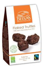 Trufas con virutas de chocolate bio 100g.