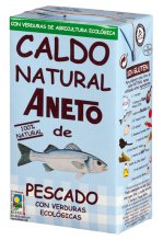 Caldo de pescado con verduras ecológicas Aneto 1l.