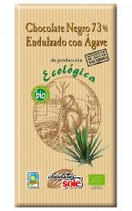 Chocolate negro 73% con agave 100g.