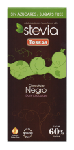 Chocolate negro con stevia 100g.