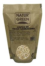 Copos de trigo sarraceno bio sin gluten Naturgreen 250g.