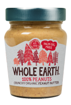 Crema de cacahuete crujiente bio Whole Earth 227g.