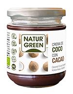 Crema de coco y cacao bio Naturgreen 200g.
