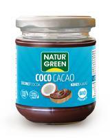 Crema de coco y cacao Naturgreen 200g.