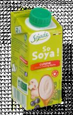 Crema de soja para cocinar Sojade 200ml.