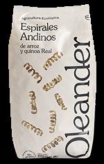 Espirales andinos de arroz y quinoa Oleander 500g.