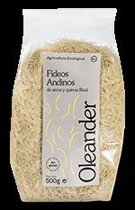 Fideos andinos de arroz y quinoa Oleander 500g.