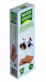 Galletas de espelta quinoa con chocolate NaturGreen 190g.