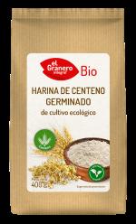 Harina de centeno germinado bio El Granero Integral 400g.