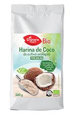 Harina de coco bio El Granero Integral 500g.