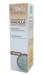 Jabón purificante de arcilla D'Shila 250ml.