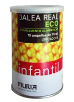 Jalea real infantil 15 ampollas 10ml.