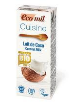 Leche de coco para cocinar Ecomil 200ml.