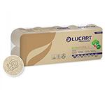 Papel higiénico ecológico Lucart 10 rollos 19,8m.