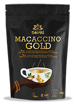 Macaccino Gold bio Iswari 250g.