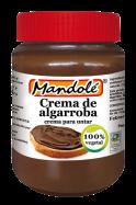Crema de algarroba Mandolé 375g.