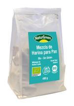 Mezcla harina sin gluten para pan Naturgreen 400g.