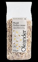 Muesli andino con cacao Oleander 200g.