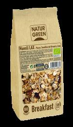 Muesli Lax con pasas, semillas de girasol y lino Sin Gluten NaturGreen 350g.