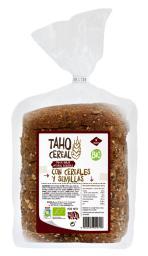 Pan de molde integral de cereales y semillas bio 400g.