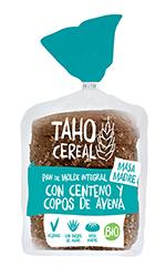 Pan de molde con centeno y avena bio Taho Cereal 400g.