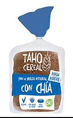 Pan de molde con chía bio Taho Cereal 400g.