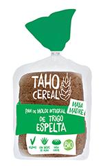 Pan de molde integral de trigo espelta bio Taho Cereal 400g.