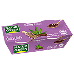 Postre de cañamo y cacao Naturgreen 2x125g.