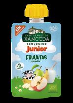 Puré Junior bio con frutas y yogur 90g.