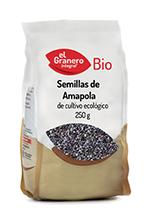 Semillas de amapola bio El Granero Integral 250g.