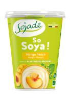 Yogur de soja mango melocotón Sojade 400g.