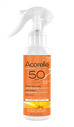 Spray solar para niños SPF50 Acorelle 150ml.