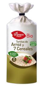Tortitas de arroz con 7 cereales bio 120g.